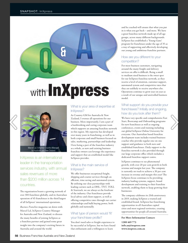 Business Franchise Feature InXpress Image